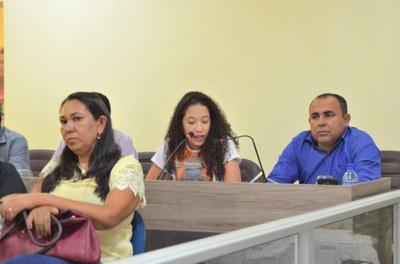 Fernanda, Helen Caroline da PJPM e Ver. Rogério Luiz